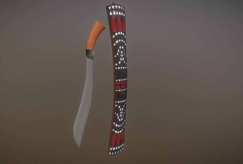Senjata Tradisional Maluku (Parang Sawalaku)