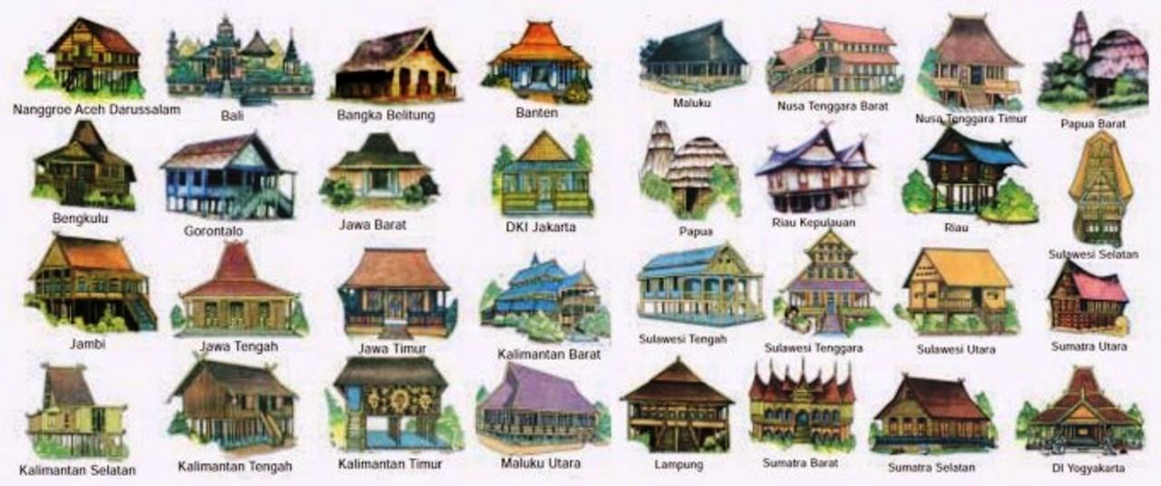 rumah adat 34 provinsi di indonesia