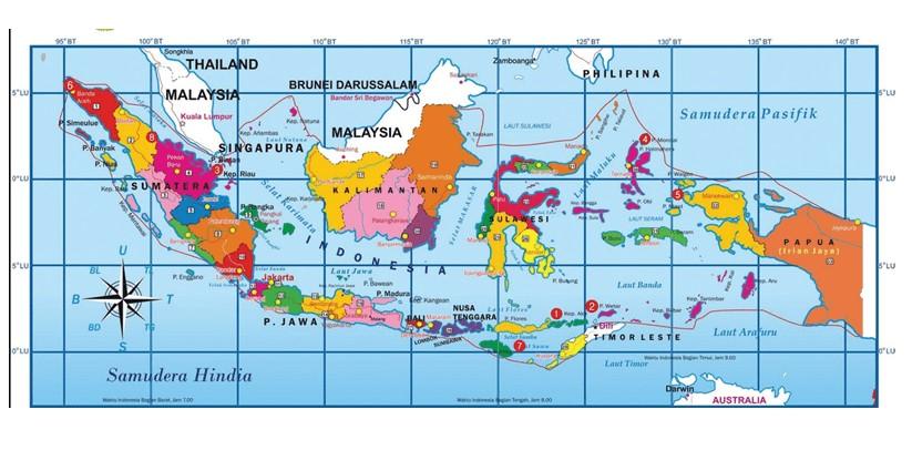 Peta Indonesia Hd Gambar Batas Luas Nama Provinsinya Lengkap The Book