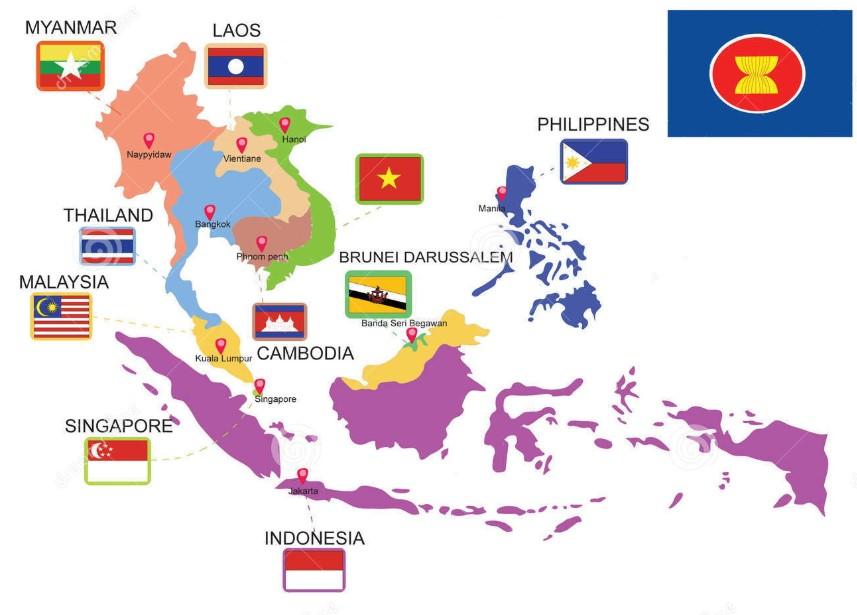 peta asia tanggara