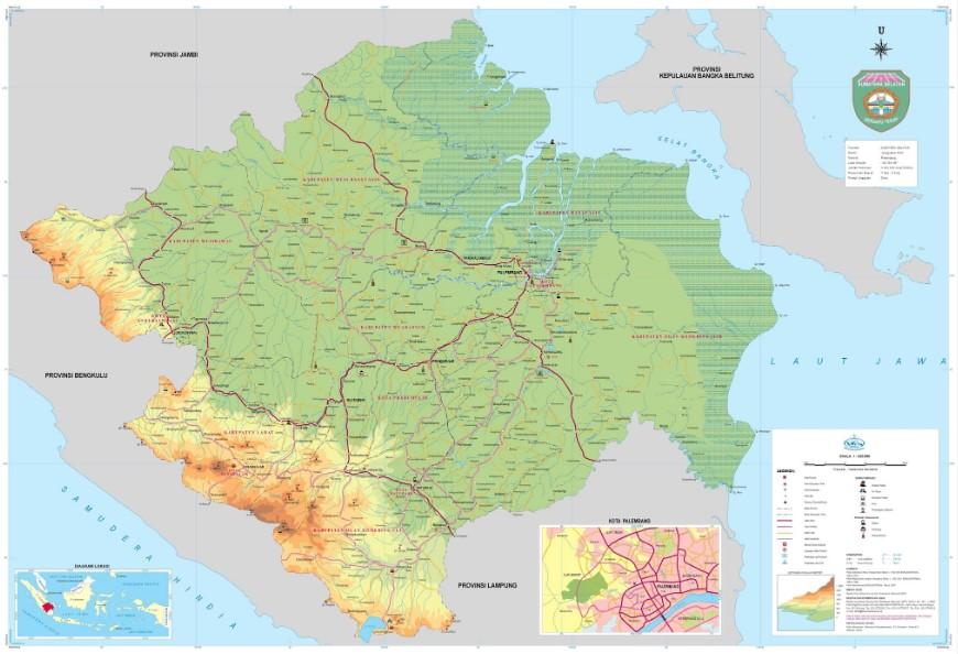Peta Sumatra Selatan