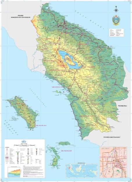 Peta Sumatra Utara