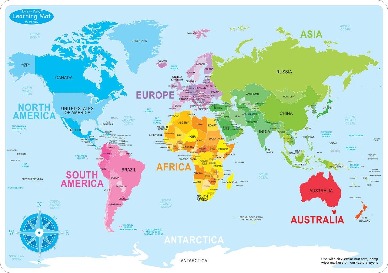 Peta Dunia Hd Lengkap Dengan Nama Negara Dan Benua Ukuran Besar The Book