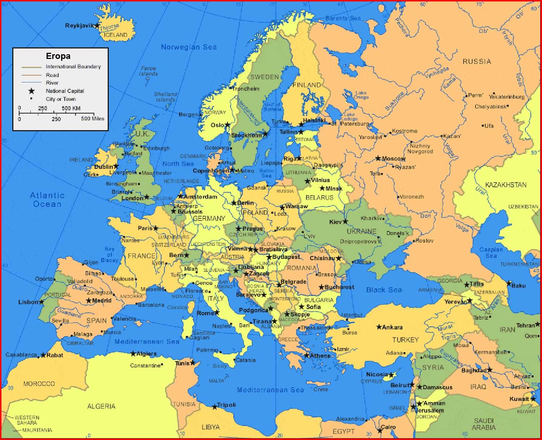 Eropa Timur Gambar Peta Benua Eropa Benua Eropa Batas Wilayah Luas Letak Iklim Peta Negara Di Eropa The Book