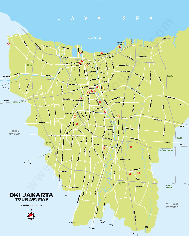 Peta Jakarta Lengkap Barat Timur Utara Selatan Pusat Hd The Book