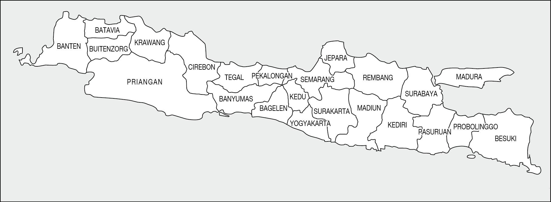 Peta Pulau Jawa Lengkap Jawa Tengah Barat Timur Banten Dki Jakarta The Book
