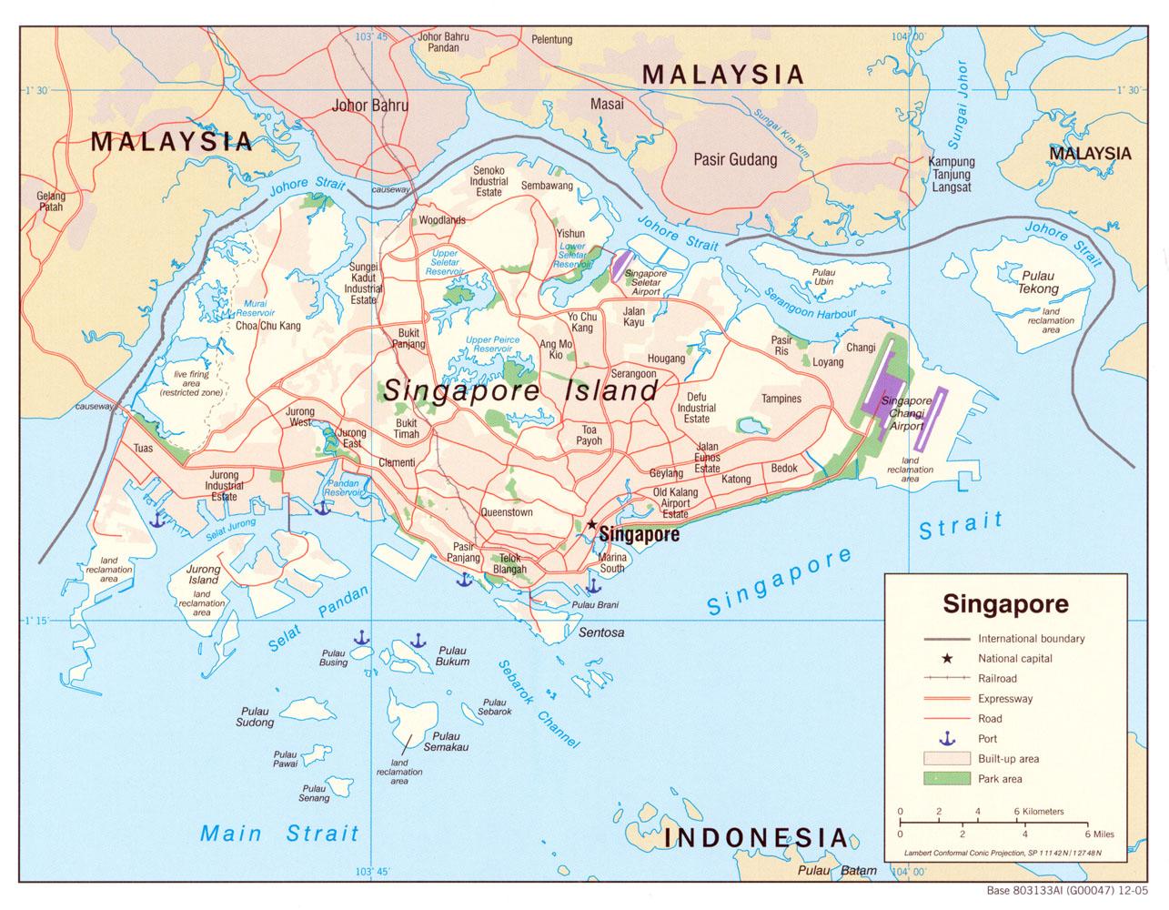 peta singapura
