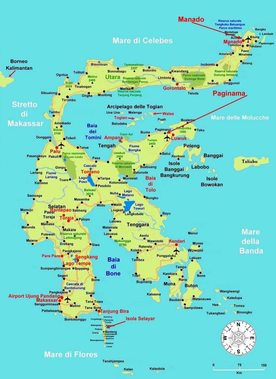 peta pulau sulawesi